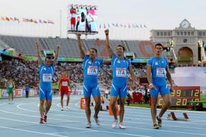 Staffetta 4x100m Italia Record Italiano Europei Barcellona