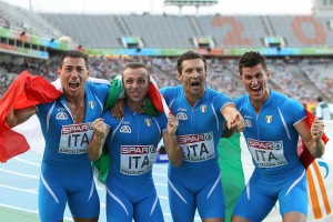 Staffetta 4x100m Barcellona 2010 Record Italiano
