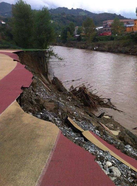 Pista Busalla alluvione