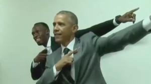 Barack Obama and Usain Bolt