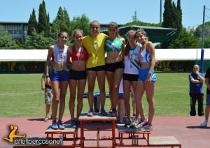Podio Pentathlon Cadette Grosseto 2015