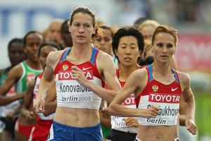 Liliya Shobukhova and Mariya Konovalova