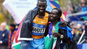 Stanley Biwott and Mary Keitany