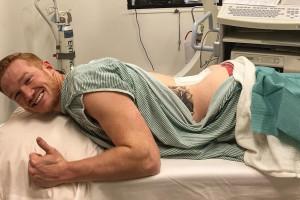 Greg Rutherford epidurale