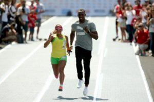 Usain Bolt e Terezihna Guilhermina