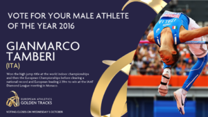 Gianmarco Tamberi European Athlete of the Year 2016