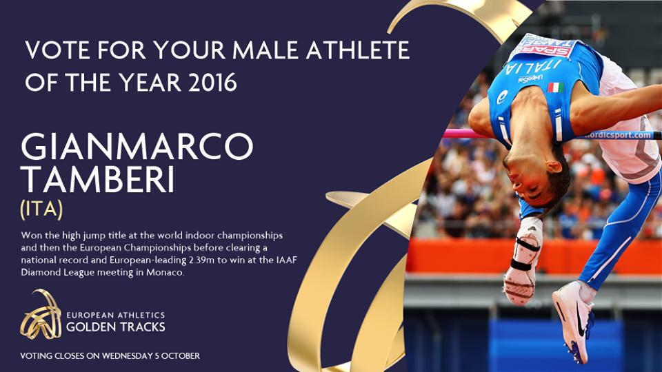 Gianmarco Tamberi candidato Atleta Europeo dell'Anno dalla European Athletics
