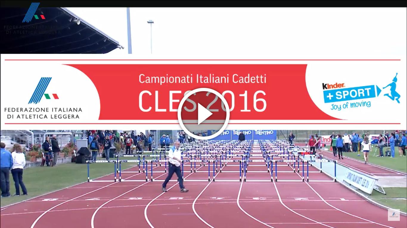 STREAMING: Campionati Italiani Individuali Cadetti/e – Cles (TN) 08-09/10/16