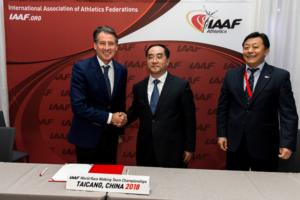IAAF Sebastian Coe Taicang 2018